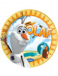 8 Assiettes en carton Olaf™ 23 cm