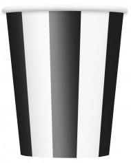 6 Gobelets rayés noir et blanc