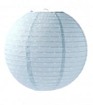 Lanterne japonaise bleu ciel à pois 35 cm