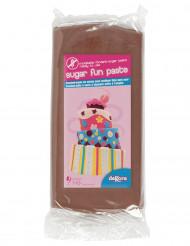 Pâte à sucre sans gluten marron 250 g