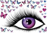 Stickers muraux oeil et papillons