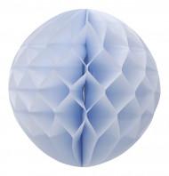 Boule papier alvéolée bleu ciel 30 cm