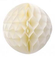 Boule papier alvéolé ivoire 30 cm