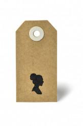 20 Etiquettes kraft silhouette