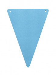 5 Fanions DIY turquoise en carton