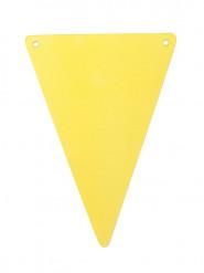 5 Fanions DIY jaunes en carton