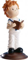 Figurine communion garçon avec bible 12 cm