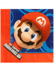 16 Serviettes en papier Mario ™ 33 x 33 cm