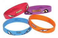 4 Bracelets en caoutchouc Tortues Ninja ™