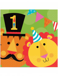 20 Serviettes en papier Fisher Price Circus ™ 33 x 33 cm