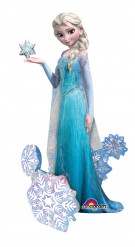 Ballon géant aluminium La Reine des Neiges ™ 144 cm