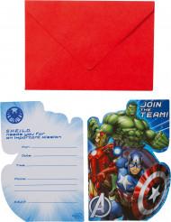 8 Cartes d'invitation avec enveloppes Avengers™