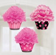 3 Suspensions cupcake