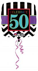 Ballon en aluminium 50 ans Celebrate your birthday