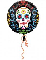 Ballon aluminium Dia de los Muertos 43 cm