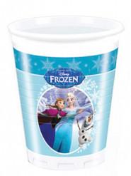 8 Gobelets en plastique bleus La Reine Des Neiges™ 200 ml