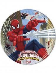 8 Assiettes en carton Spiderman™ 23 cm