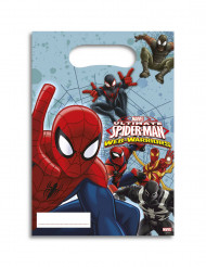 6 Sacs cadeaux Spiderman Web-Warriors™ 16,5 x 23 cm