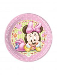 8 Petites assiettes Bébé Minnie ™ 20 cm