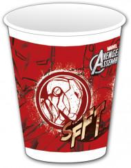 8 Gobelets en plastique rouge Avengers™