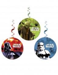3 Décorations tortillons à suspendre Star Wars ™