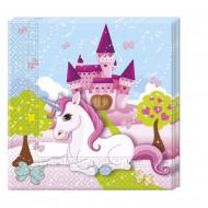 20 Serviettes en papier Licorne 33 x 33 cm