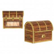 4 Boîtes aux trésors en carton Pirate 9 x 10 cm