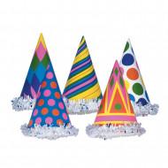 1 Chapeau de fête coloré en carton