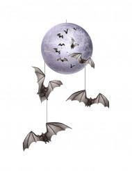 Décoration à suspendre lune et chauve-souris