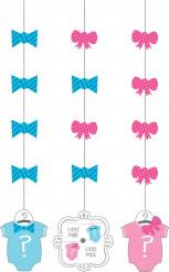 3 Décorations à suspendre Baby Shower Fille ou Garçon 91 cm