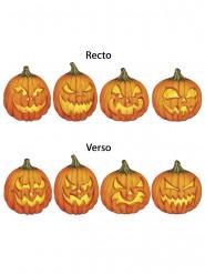 4 Décorations murales cartonnées citrouilles effrayantes Halloween
