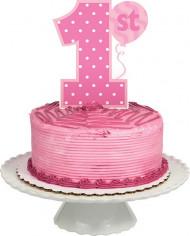Décoration gâteau 1 an Fée 1er anniversaire