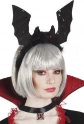 Serre tête chauve-souris noire adulte Halloween