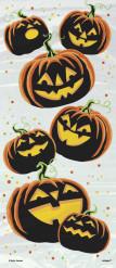 20 Sachets en plastique Citrouilles Diabolique Halloween 28 x 13 cm