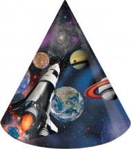 8 Chapeaux de fête anniversaire de l'espace