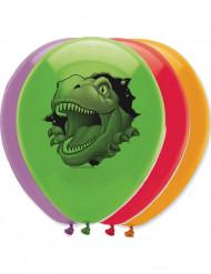 6 Ballons en latex anniversaire Dinosaures 30 cm