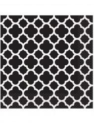 16 Serviettes en papier Grafik Noir 33 x 33 cm