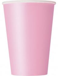 10 Gobelets en carton rose clair 355 ml