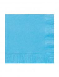 20 Petites Serviettes en papier bleues pastel  25 x 25 cm