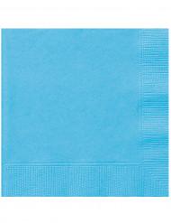 20 Serviettes en papier Bleu pastel 33 x 33 cm