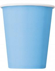 14 Gobelets en carton bleu pastel 266 ml