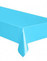 Nappe rectangulaire en plastique bleu pastel 137 x 274 cm