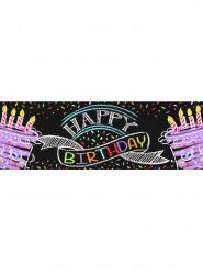 Bannière Confettis Happy Birthday 50 x 150 cm