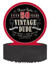 Centre de table en papier alvéolé anniversaire Vintage 50 ans 30 x 30 cm