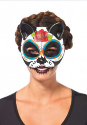 Masque chat femme Dia de los Muertos