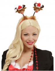 Serre-tête petit renne de Noël