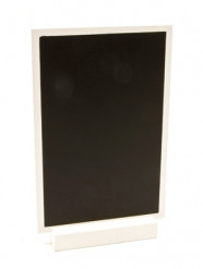 Ardoise en bois menu blanc 18 x 12 cm