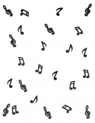 24 Notes de musique en bois noir 1,5 x 3 cm