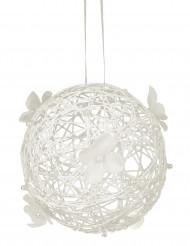 Boule de décoration à suspendre ivoire