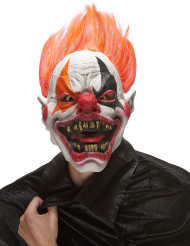 Masque latex clown de l'enfer adulte Halloween